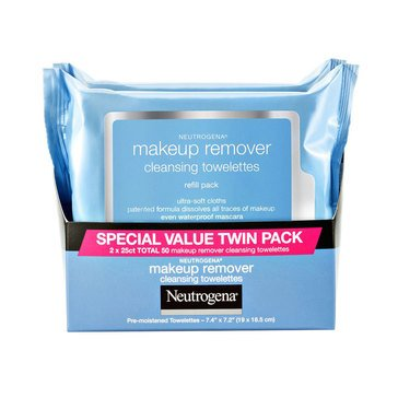 Neutrogena Blue Line Makeup Remover Wipes Twin Pack, 50ct