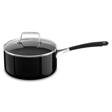 KitchenAid Aluminum 3-Quart Sauce Pan With Lid, Onyx Black