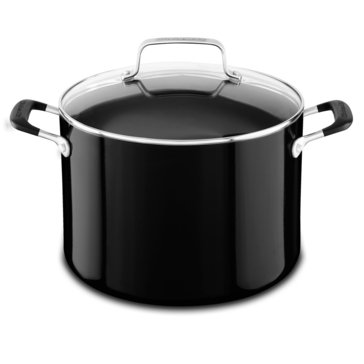 KitchenAid Aluminum 8-Quart Stockpot, Onyx Black