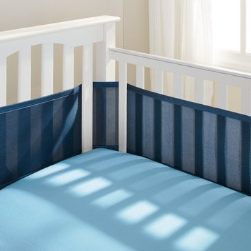 Breathable Baby Breathable Mesh Crib Liner, Navy