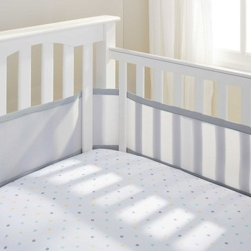 Breathable Baby Breathable Mesh Crib Liner, Gray