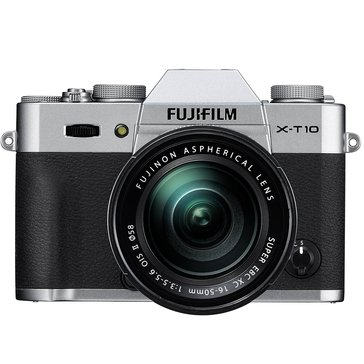 Fuji T10 Mirrorless Digital Camera with 16-50mm Lens Bundle