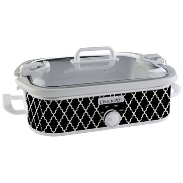 Crock-Pot 3.5-Quart Casserole Crock Slow Cooker, Black/White (SCCPCCM350-BW)