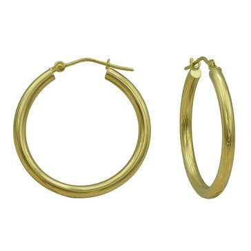 18K Hoop Earrings