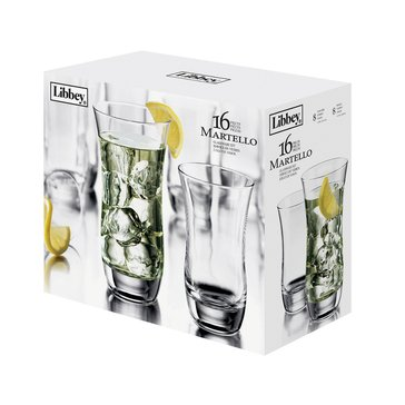 Libbey Martello 16-Piece Glassware Set