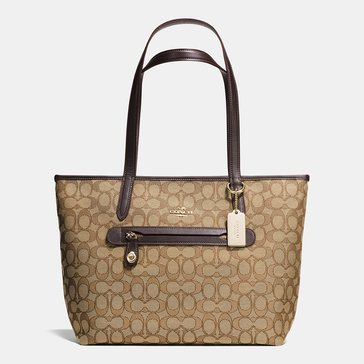 Coach Signature Taylor Tote Khaki/Brown