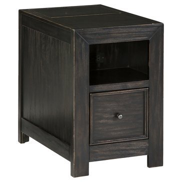 Signature Design by Ashley Gavelston Chairside End Table with USB Ports & Outlets