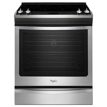 Whirlpool 6.2-Cu.Ft. Slide-In Electric Range w/ Convection, Stainless Steel (WEE730H0DS)