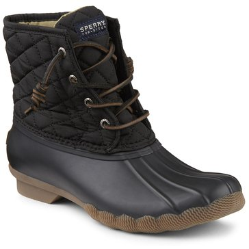 Sperry Top-Sider Saltwater Quilted Nylon Women's Duck Boot Black