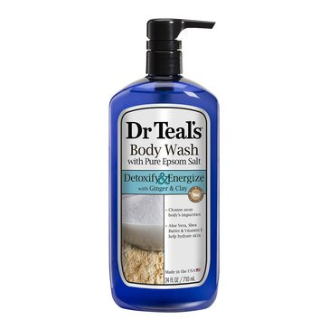 Dr. Teal's Detox & Energize Body Wash with Ginger & Clay 24oz