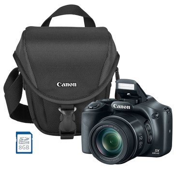 Canon PowerShot SX530 Military Bundle - Includes Camera Bag & 8GB Memory Card