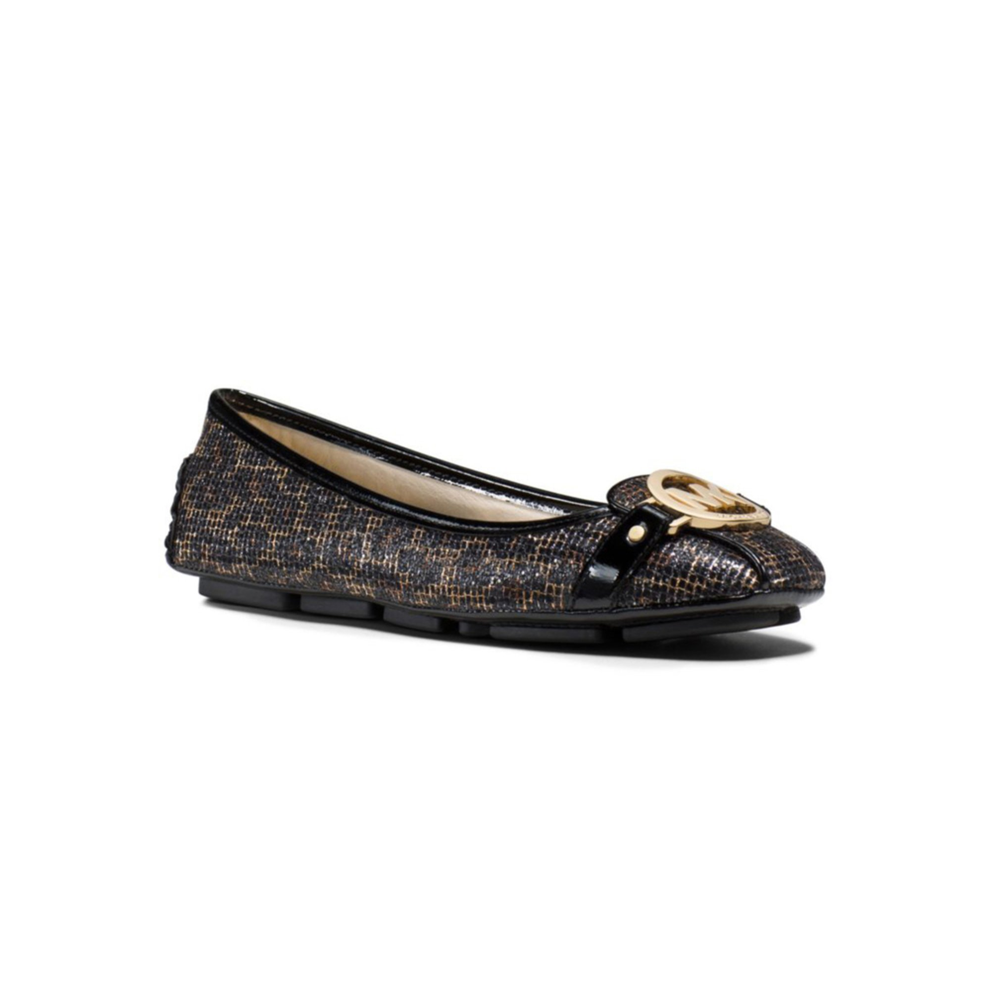 michael kors fulton moc s slip on shoe glitter