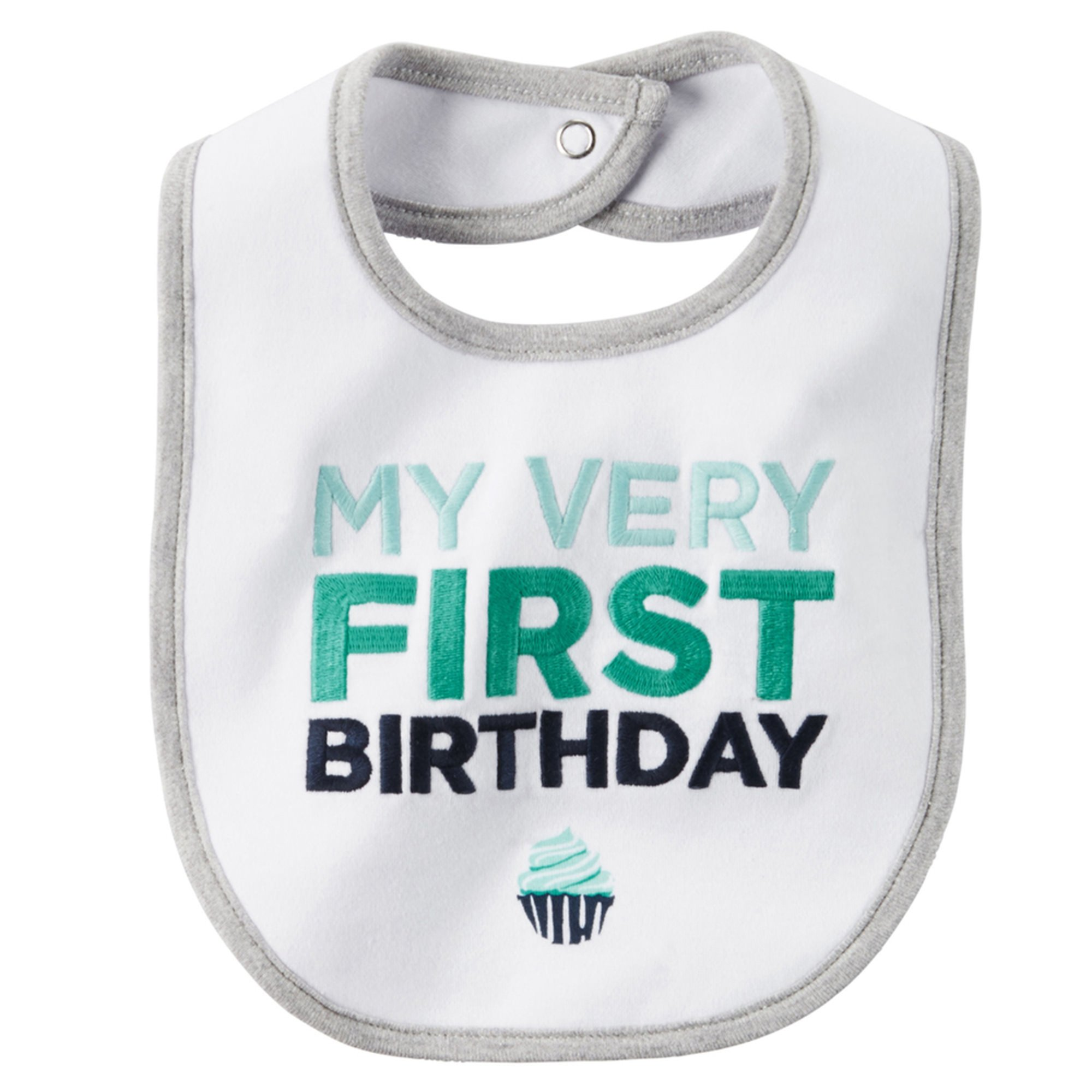 Carter's Baby Boys' My First Birthday Bib