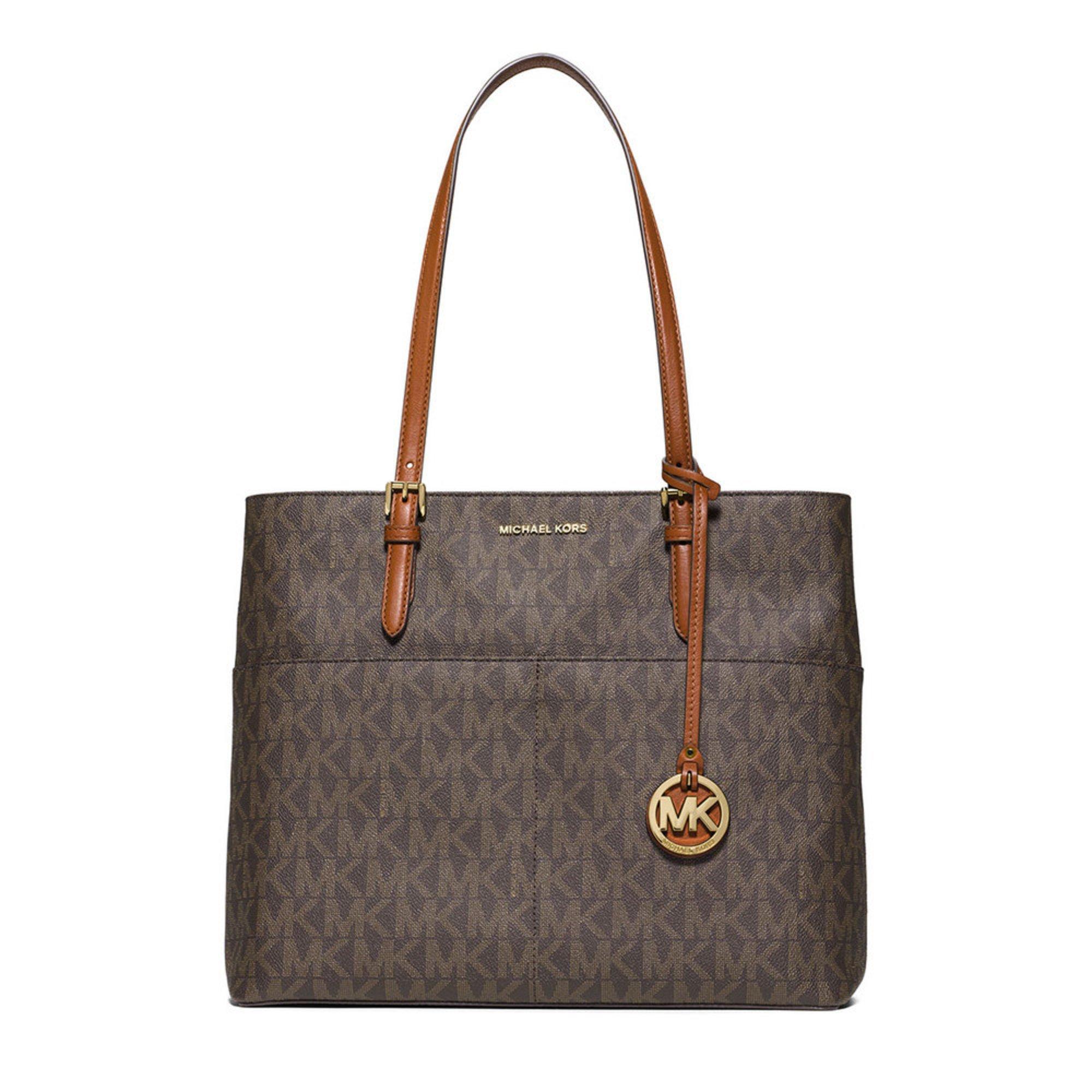 michael kors bedford large pocket tote brown handbags accessories shop your navy exchange. Black Bedroom Furniture Sets. Home Design Ideas