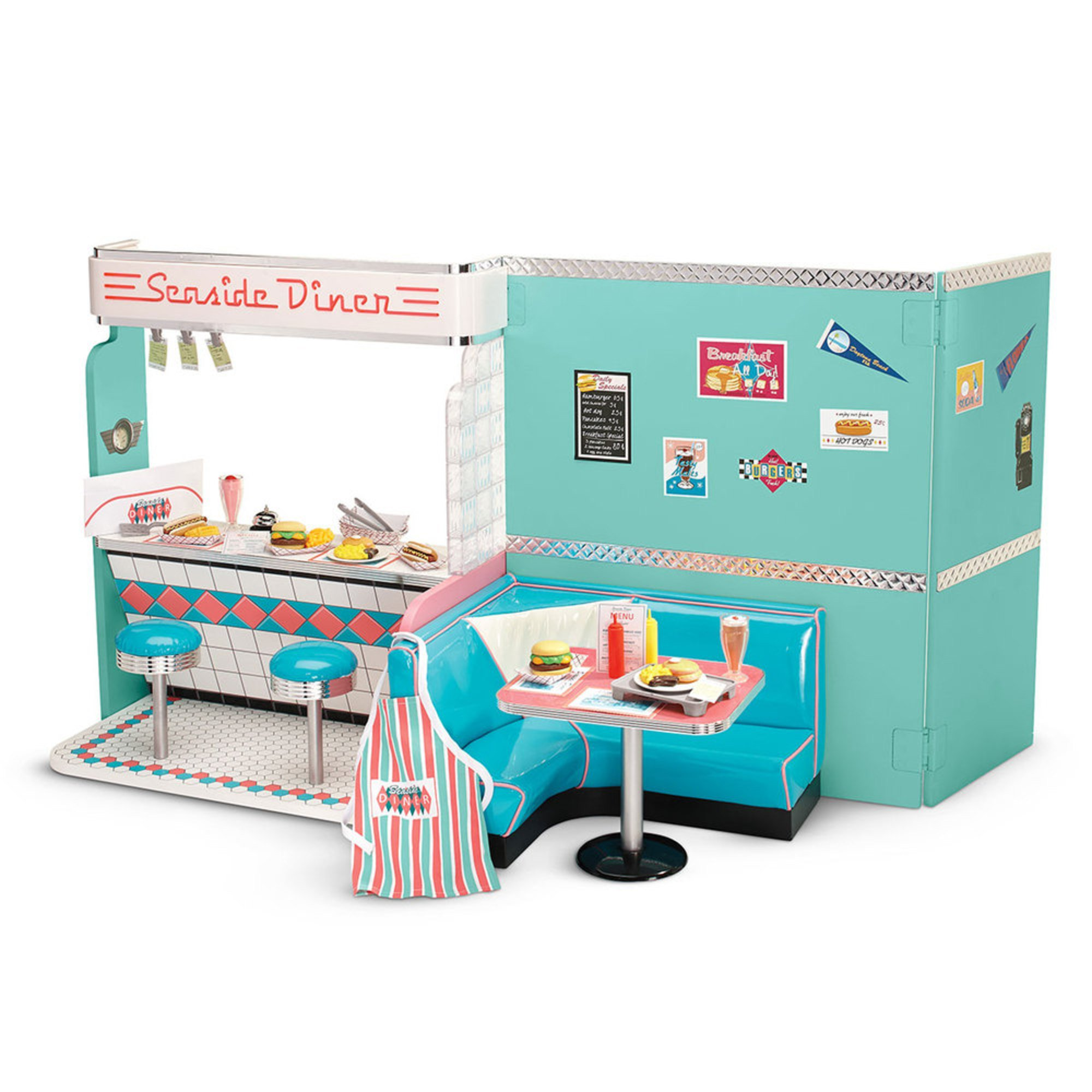 American Girl Maryellen 39 S Diner Set Furniture Vehicles Dollhouses Baby Kids Toys