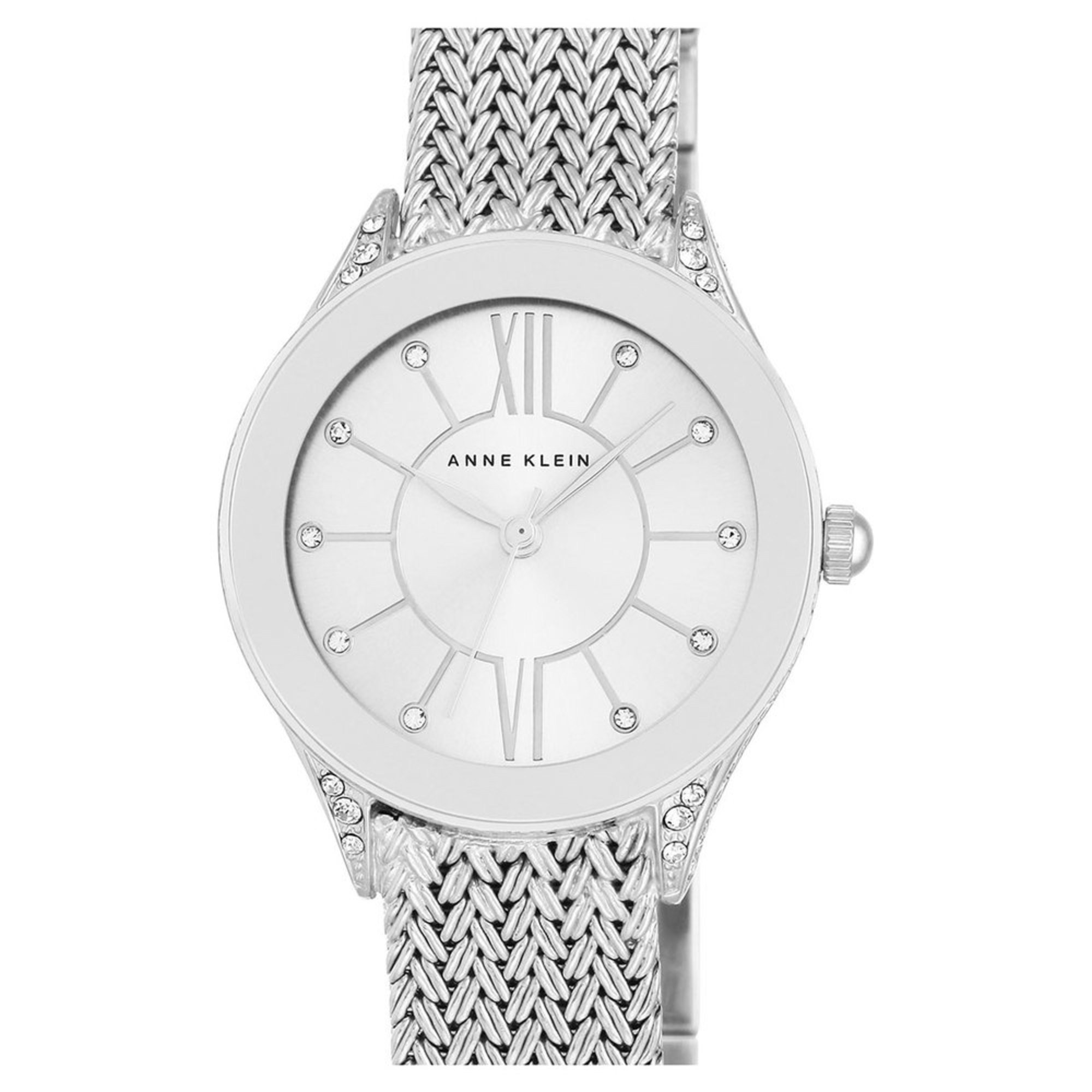 anne klein women 39 s stainless steel mesh bracelet watch 30mm women 39 s watches jewelry shop