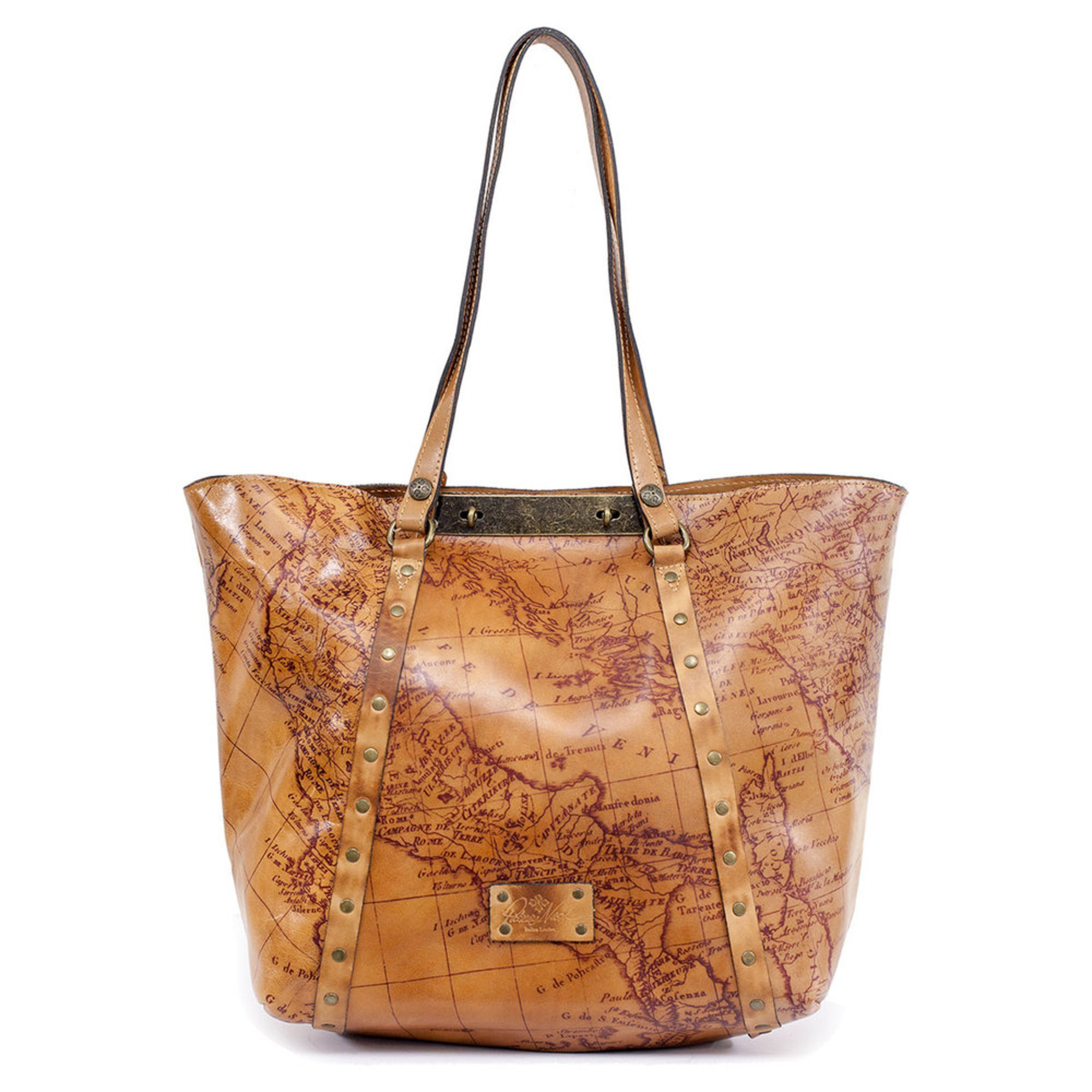 6220f45a0 Patricia Nash Benvenuto Tote Map Print Rust | Totes | Accessories ...
