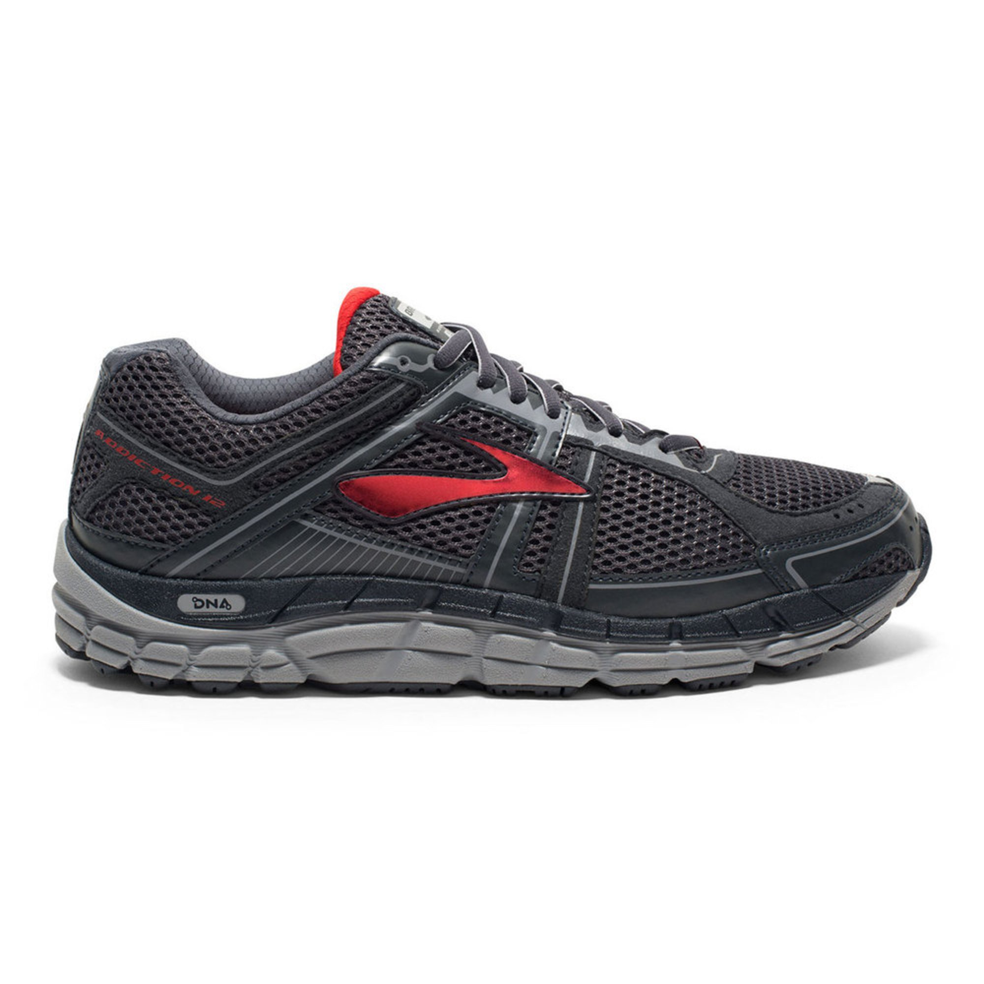 Brooks Addiction  Men S Shoes Anthracite Red Silver