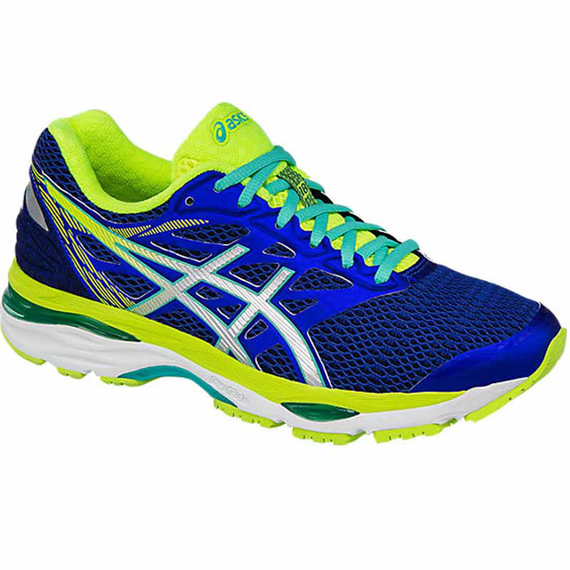 Asics Running shoes Womens Yellow Blue Silver Gel cumulus 18 Asics Safety