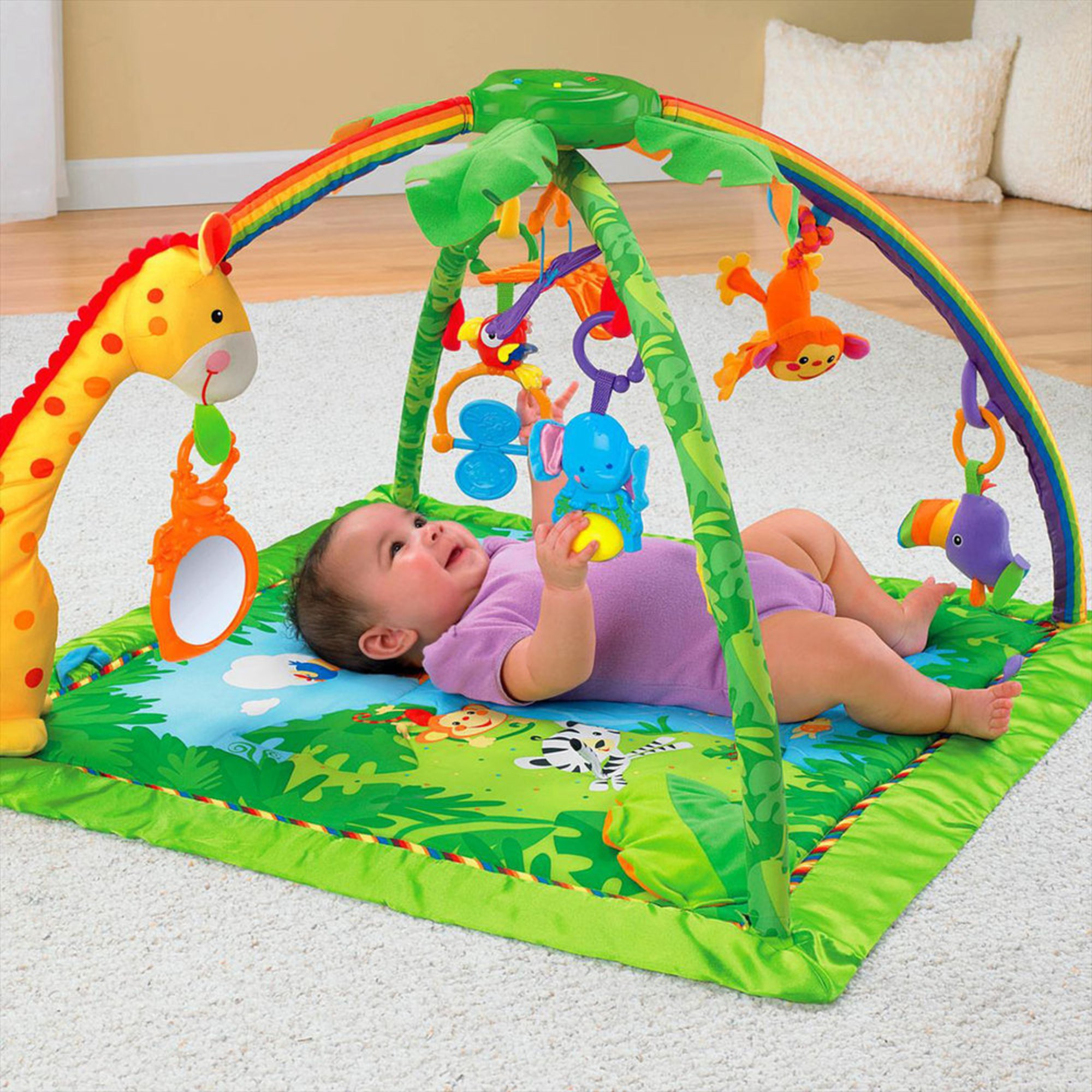 Fisher Price Rainforest Music Amp Lights Deluxe Gym Gyms