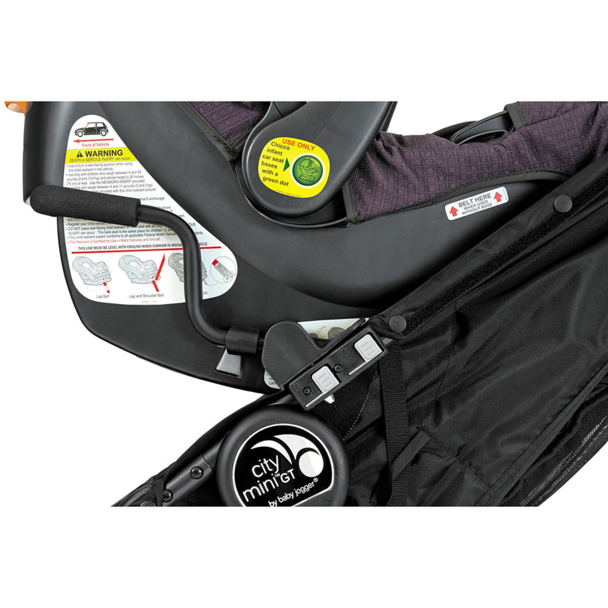 Baby Jogger Car Seat Adapter Single City Mini Stroller