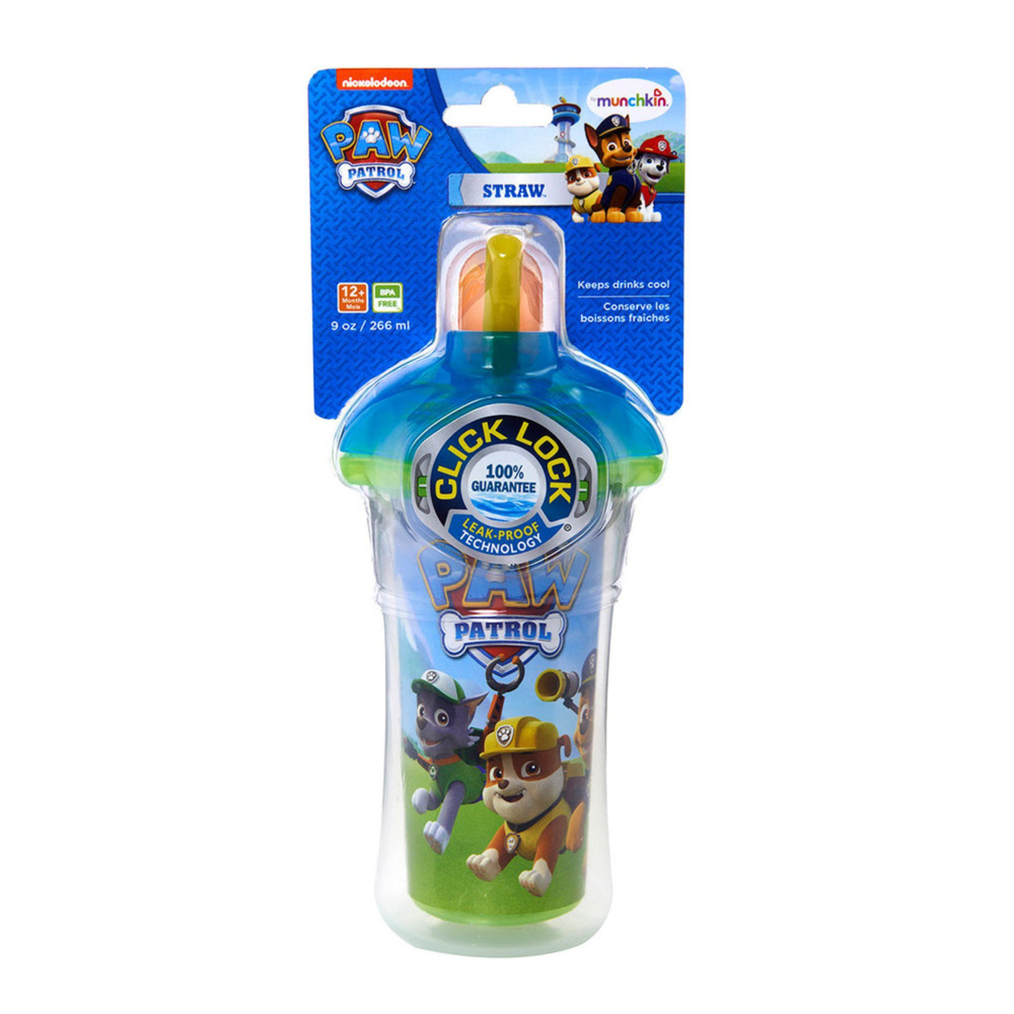 Paw Patrol Click Lock Insulated Straw Cup Toddler Dishes