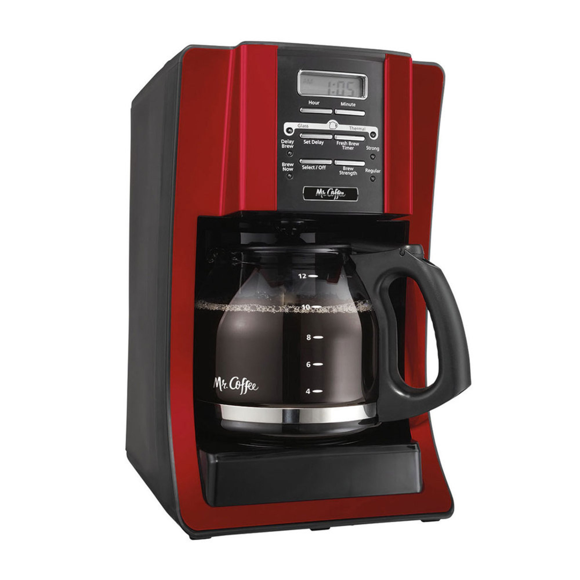6 Cup Coffee Maker Programmable : Mr. Coffee 12-cup Programmable Coffee Maker (bvmc-sjx36-rb) Coffee Makers For The Home ...