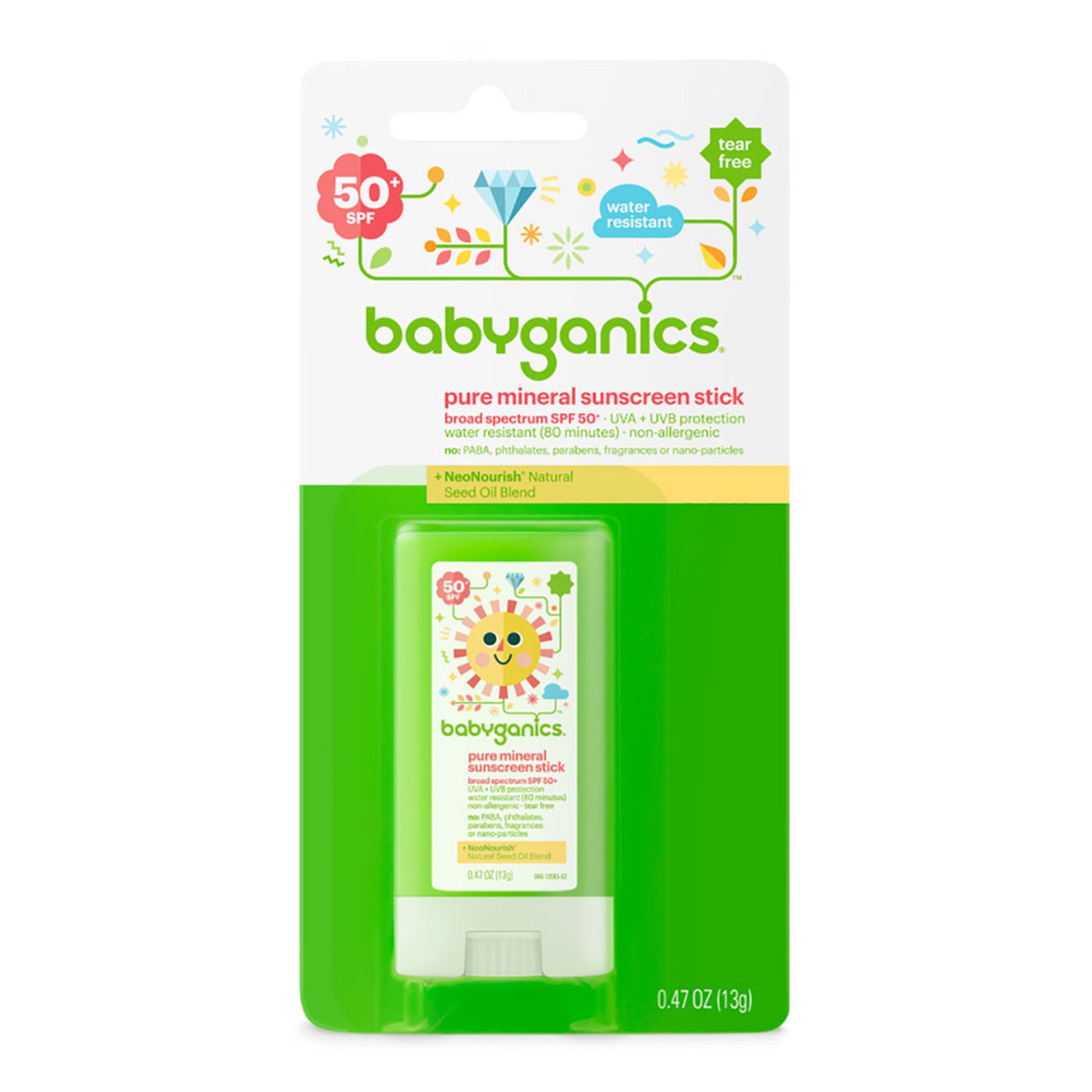 Babyganics Pure Mineral Sunscreen Stick 50 Spf Sunscreen