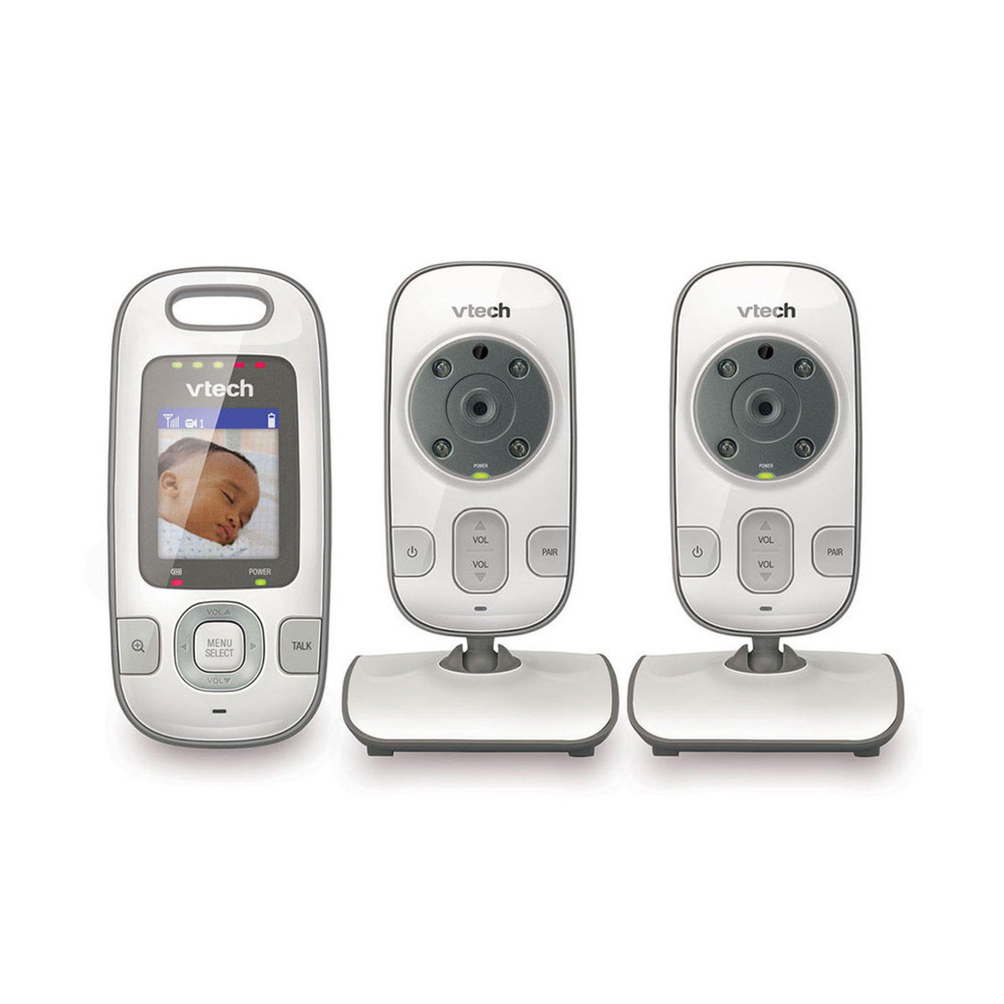 vtech safe sound full color video baby monitor 2 cameras video baby monitors baby kids. Black Bedroom Furniture Sets. Home Design Ideas