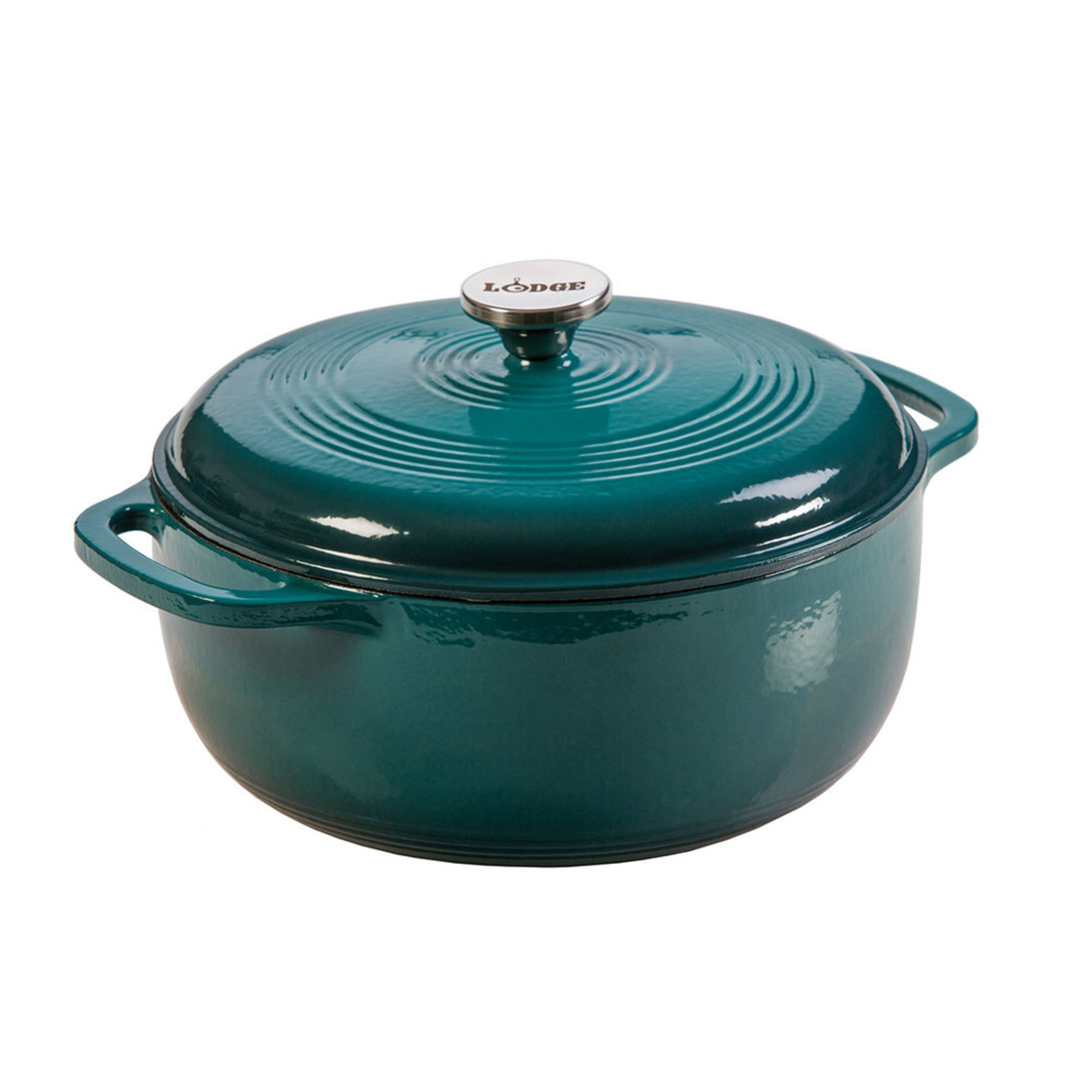 lodge 6 quart enameled cast iron dutch oven lagoon dutch ovens casseroles shop your navy. Black Bedroom Furniture Sets. Home Design Ideas
