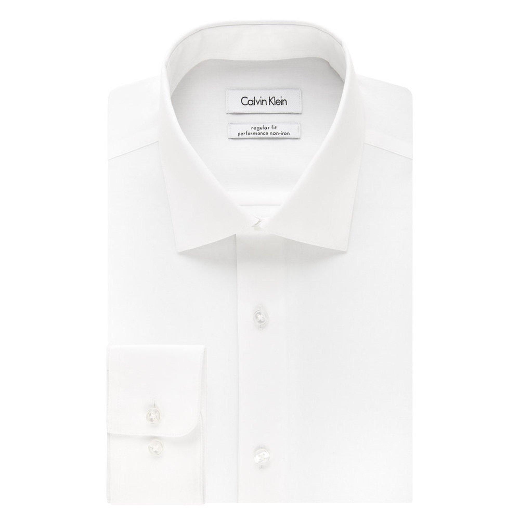 Calvin klein regular fit ni herringbone solid dress shirt for White herringbone dress shirt