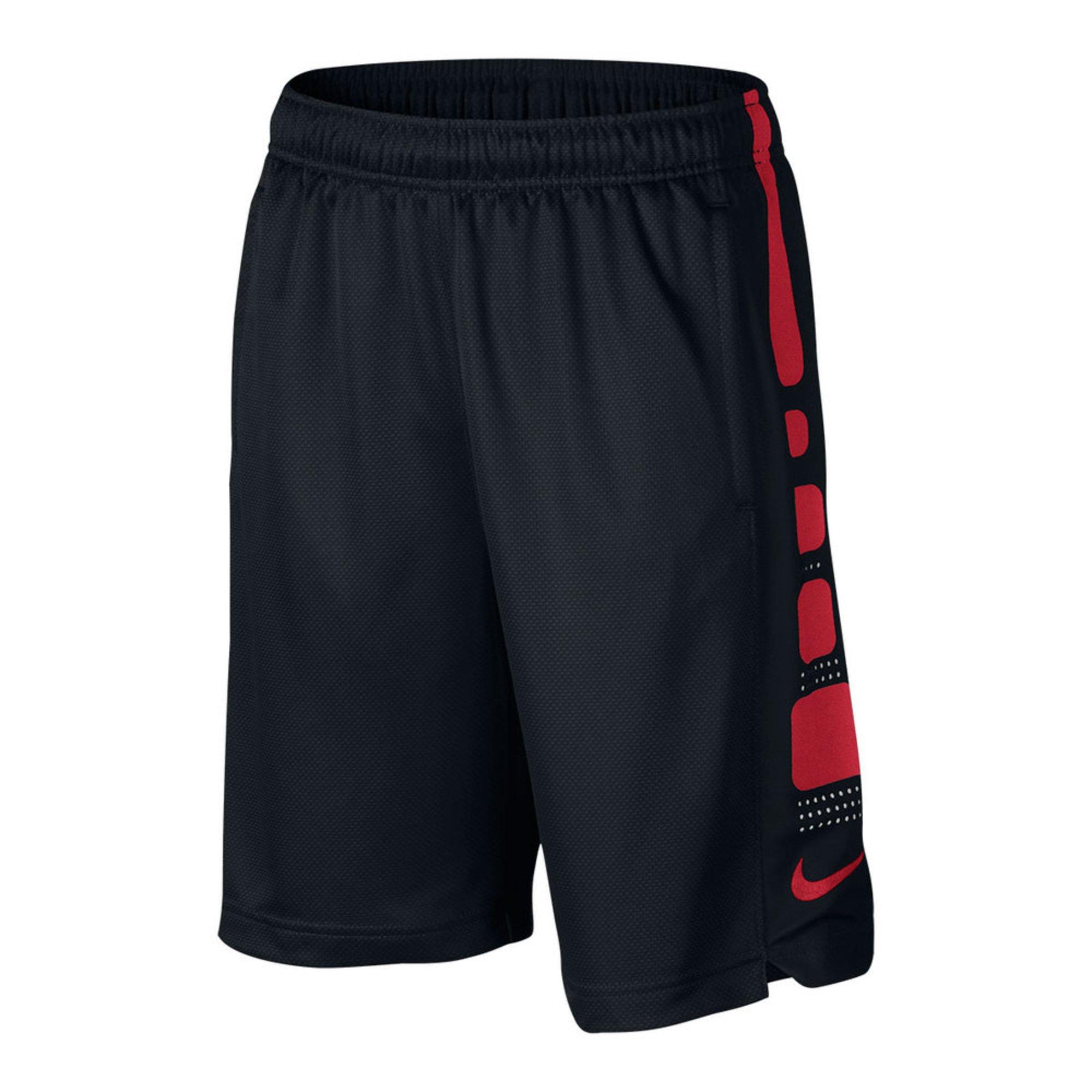 nike big boys elite shorts blackred big boys pants