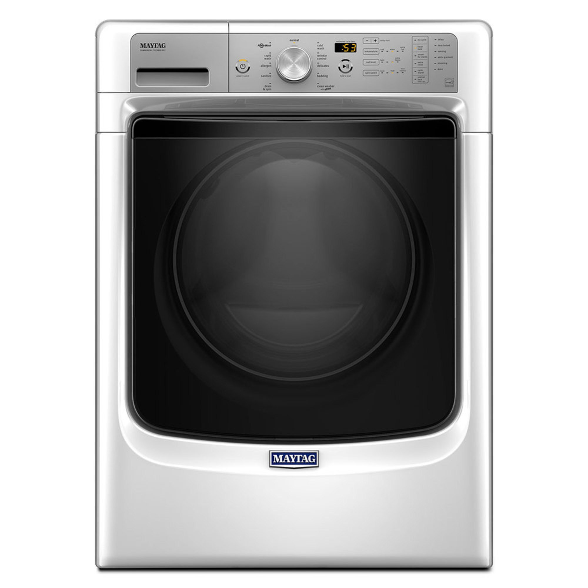 Maytag 45 Cuft Front Load Washer W Fresh Hold White Mhw5500fw Garbage Disposal Plumbing Also Lg Slide In Range On Wiring 0