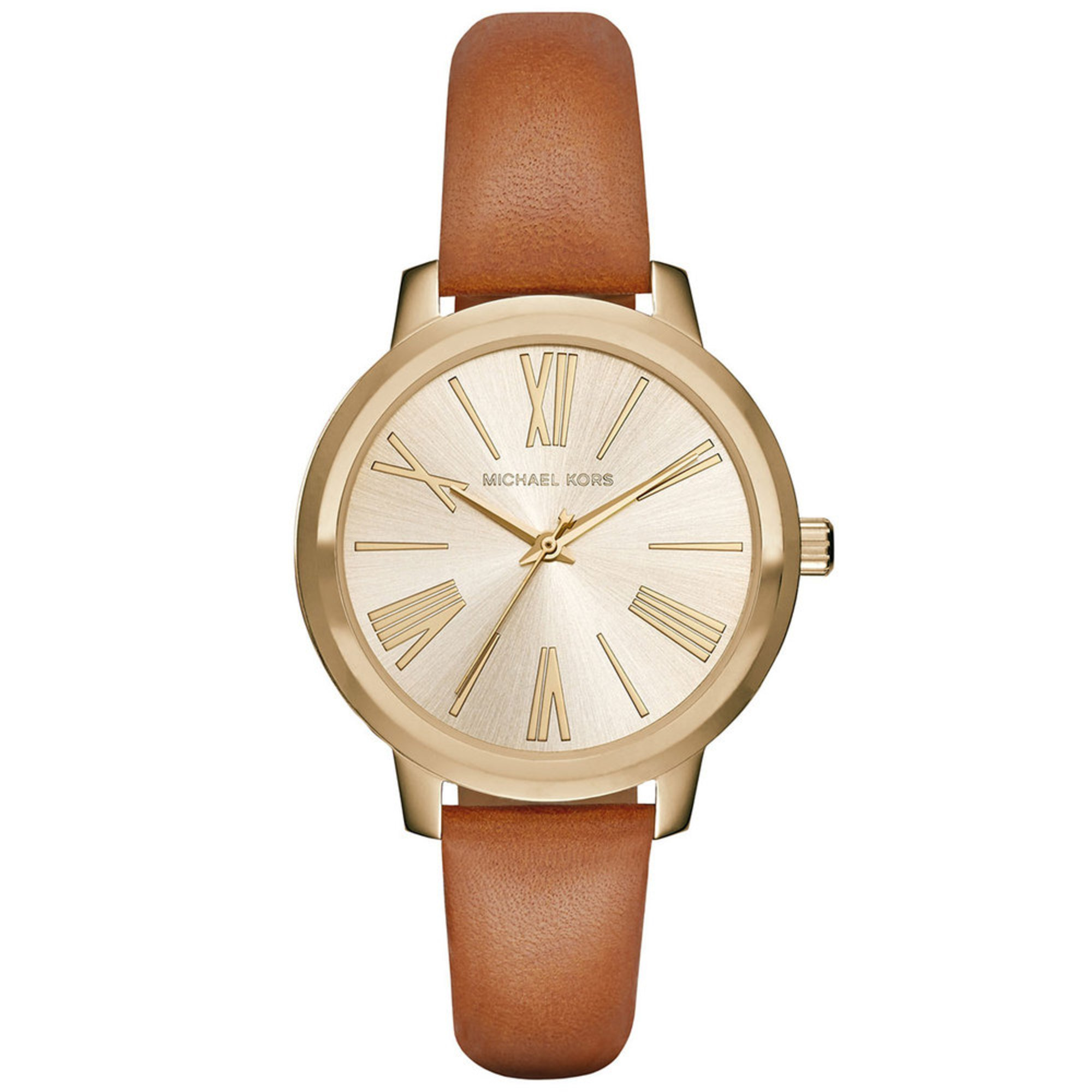 Michael Kors Women's Hartman Watch Mk2521, Brown Leather ...