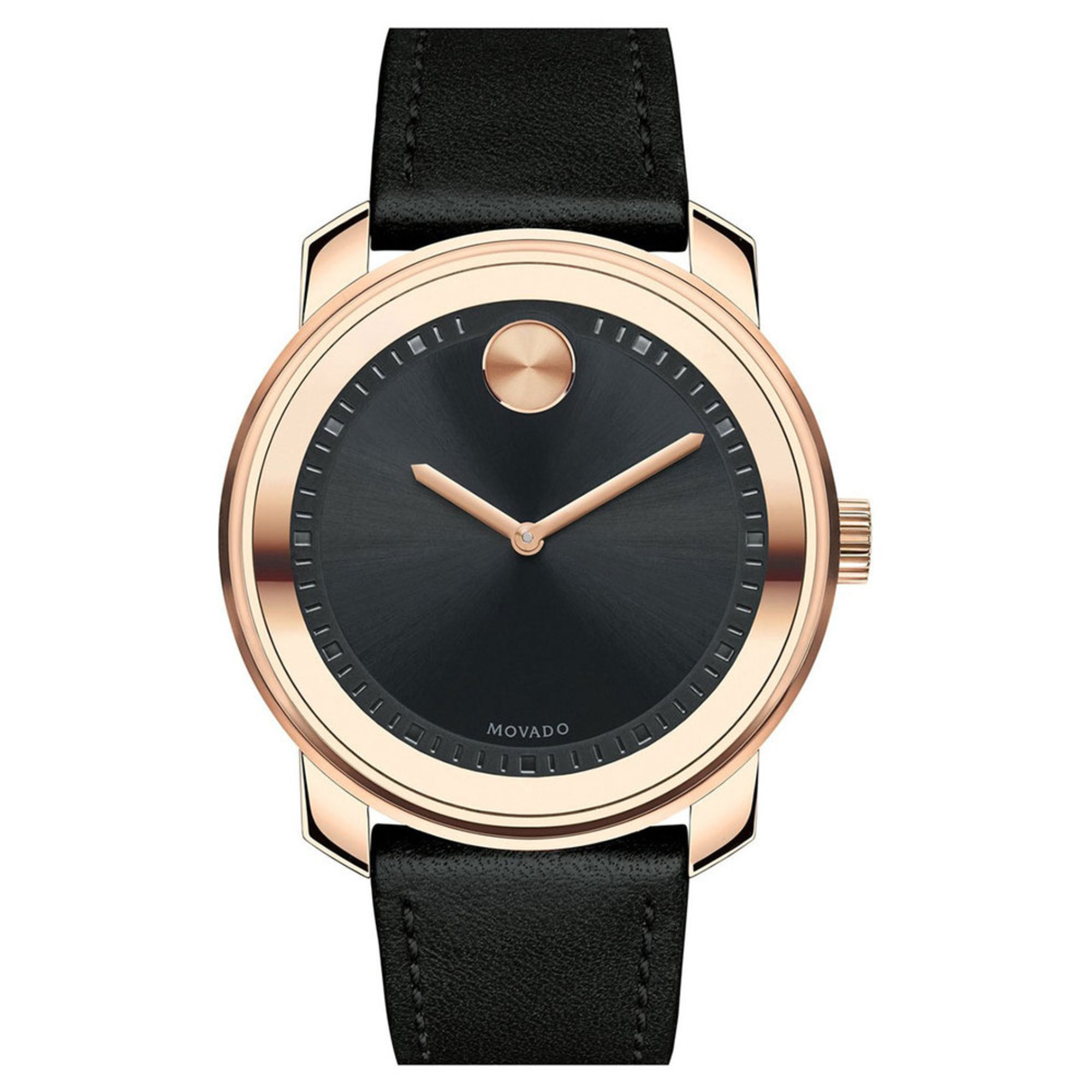 movado bold s leather 42 5mm watches