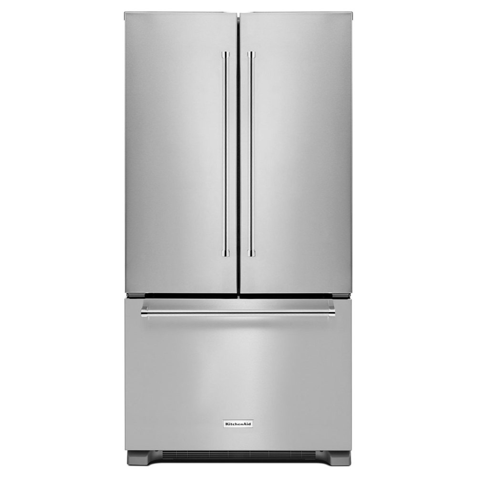 "Shop Kitchenaid 23 8 Cu Ft Counter Depth French Door: Kitchenaid 22-cu.ft. 36"" Counter Depth French Door Refrigerator, Stainless Steel (krfc302ess"
