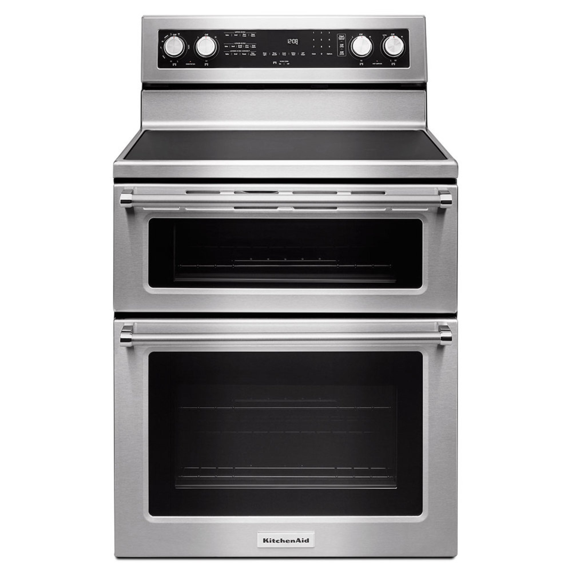 Electric Kitchen Stoves And Ovens ~ Kitchenaid quot burner electric double oven convection