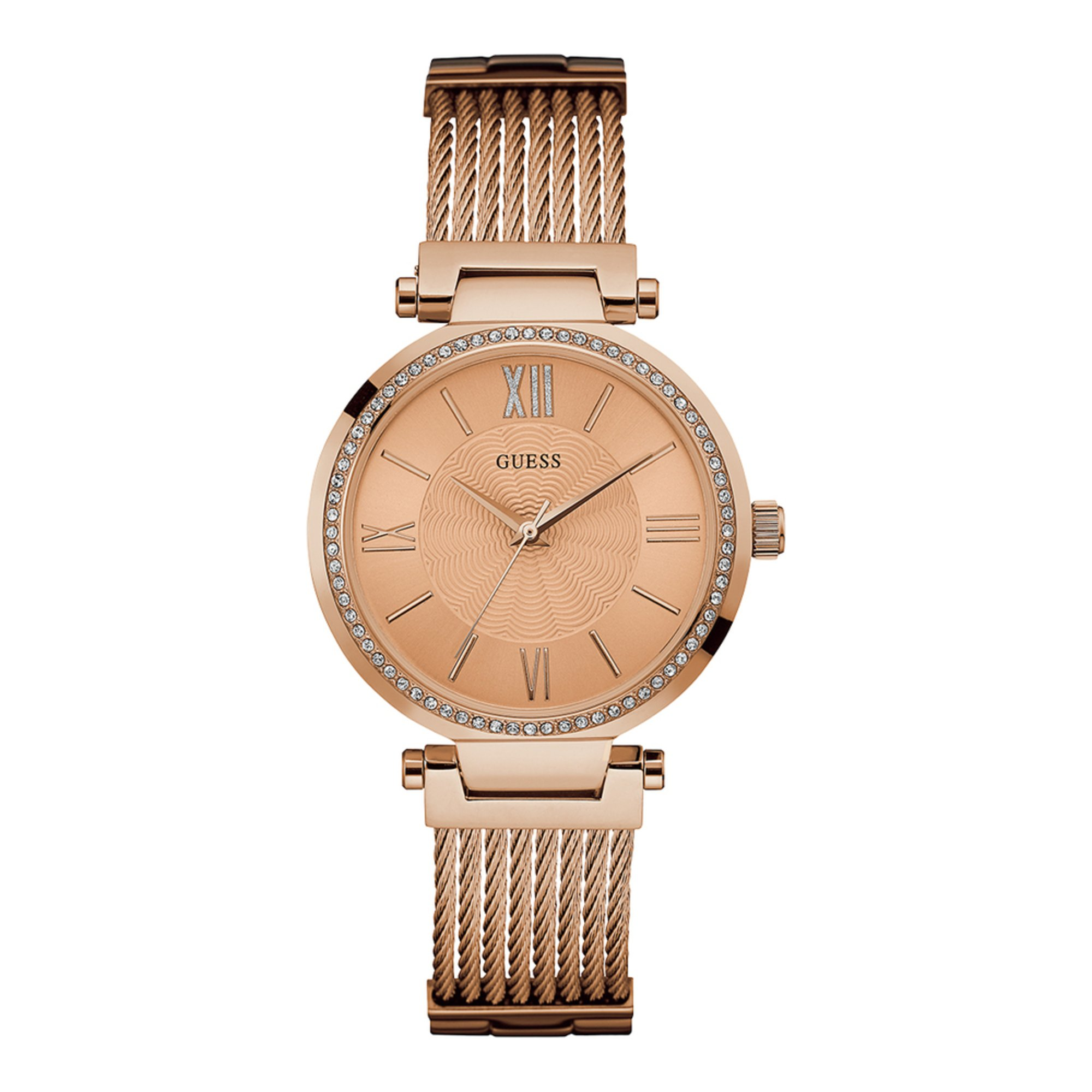 f249286850 Guess Women's Rose Gold Tone Stainless Steel Bracelet Watch, 34mm ...