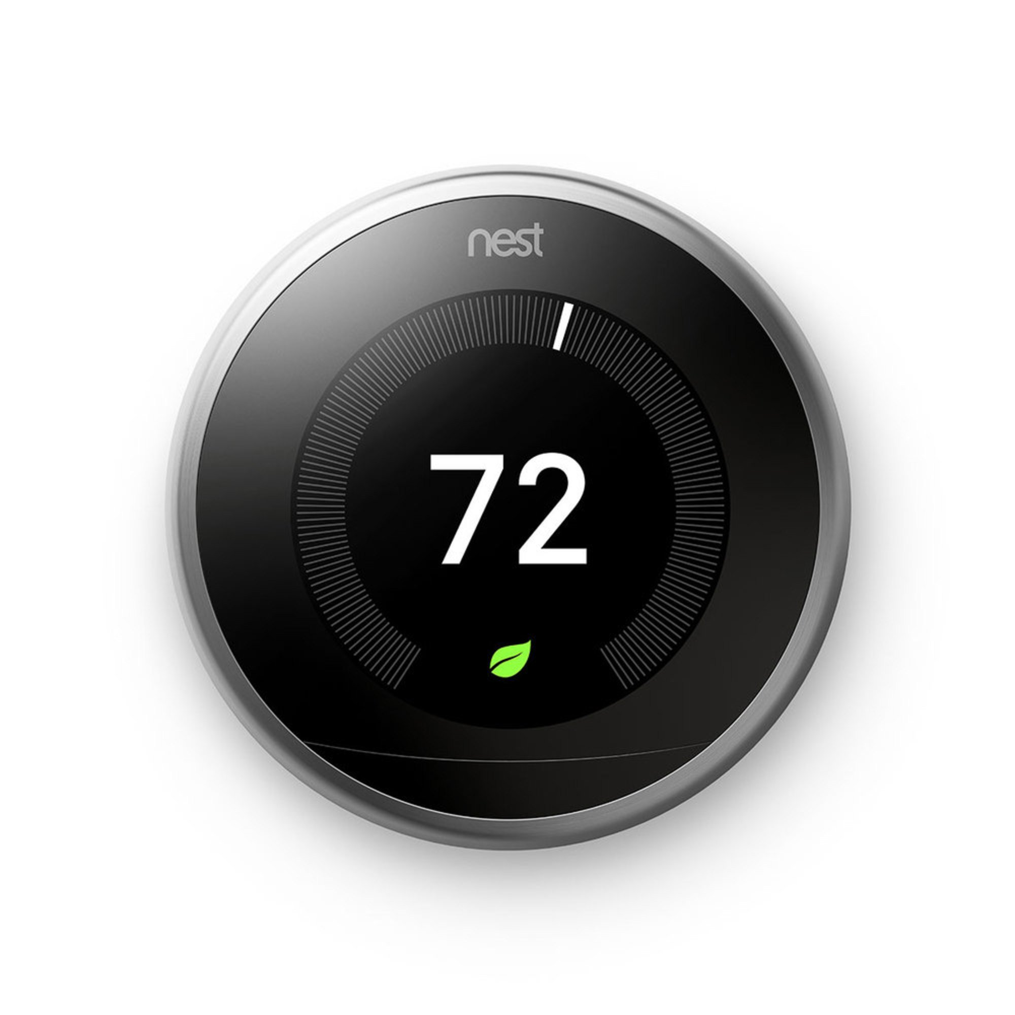 nest learning thermostat 3rd generation stainless. Black Bedroom Furniture Sets. Home Design Ideas