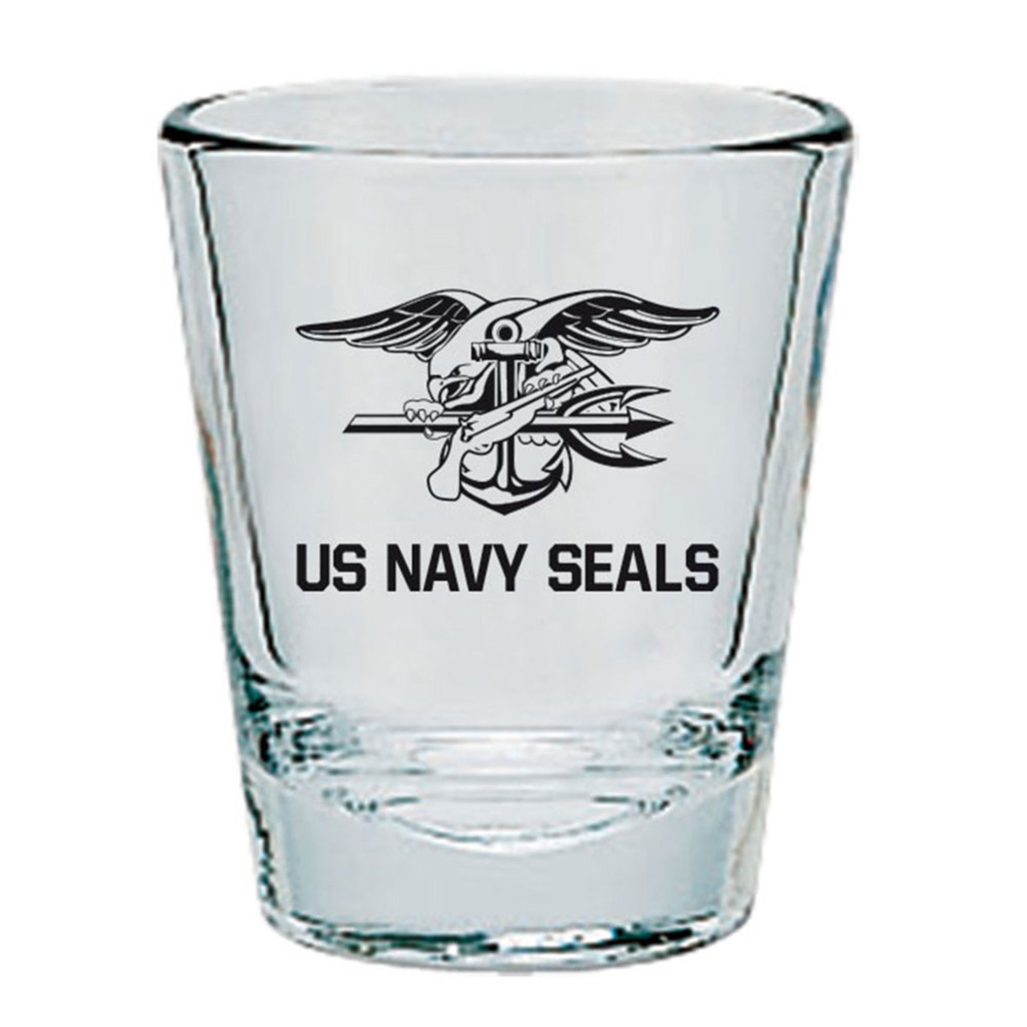 Three Tampa Prep Students Present To American Society Of: Mcm U.s. Navy Seal Team Clear Short Glass, Gold/black