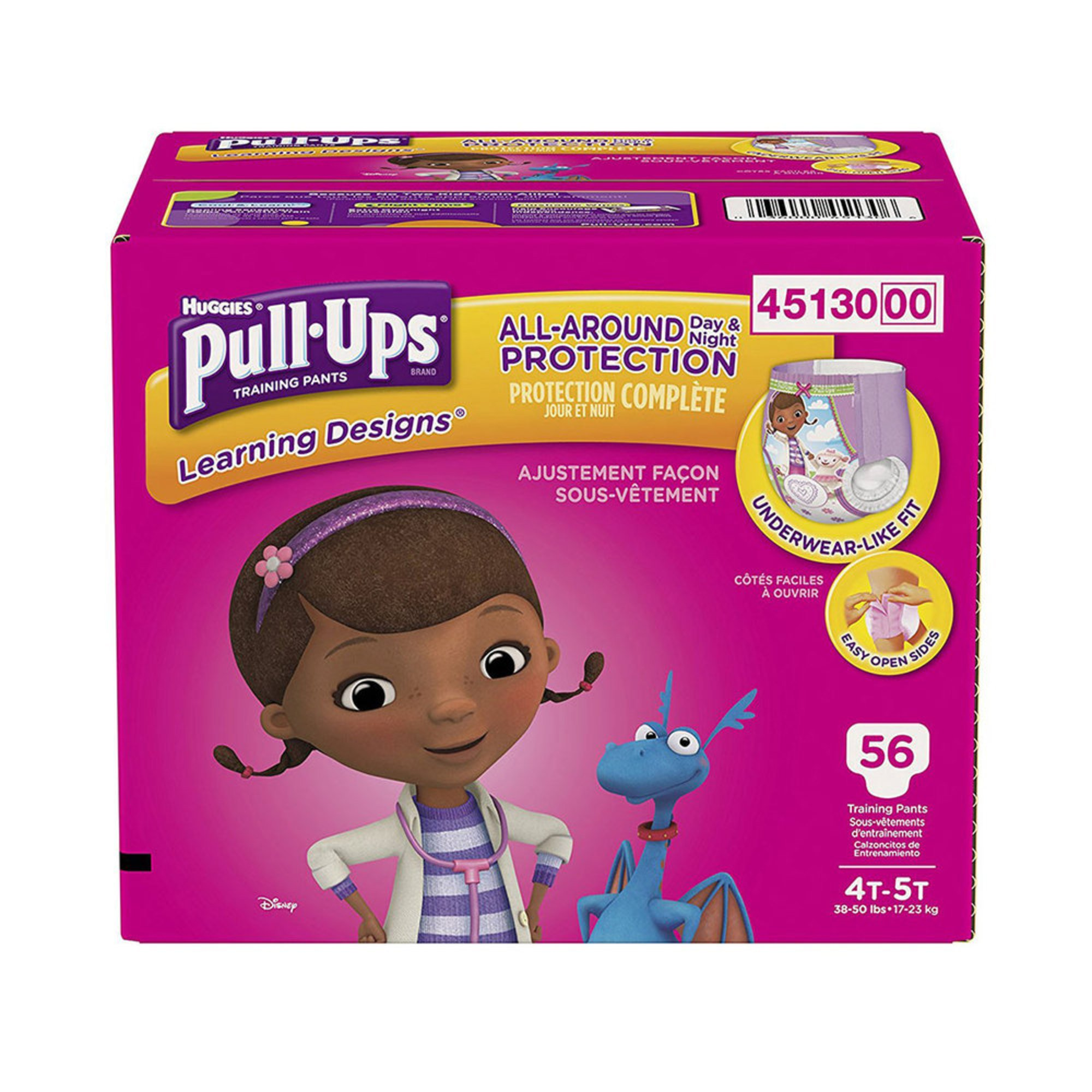 Pull Ups Girls' Training Pants - Size 4t/5t, 56-count ...