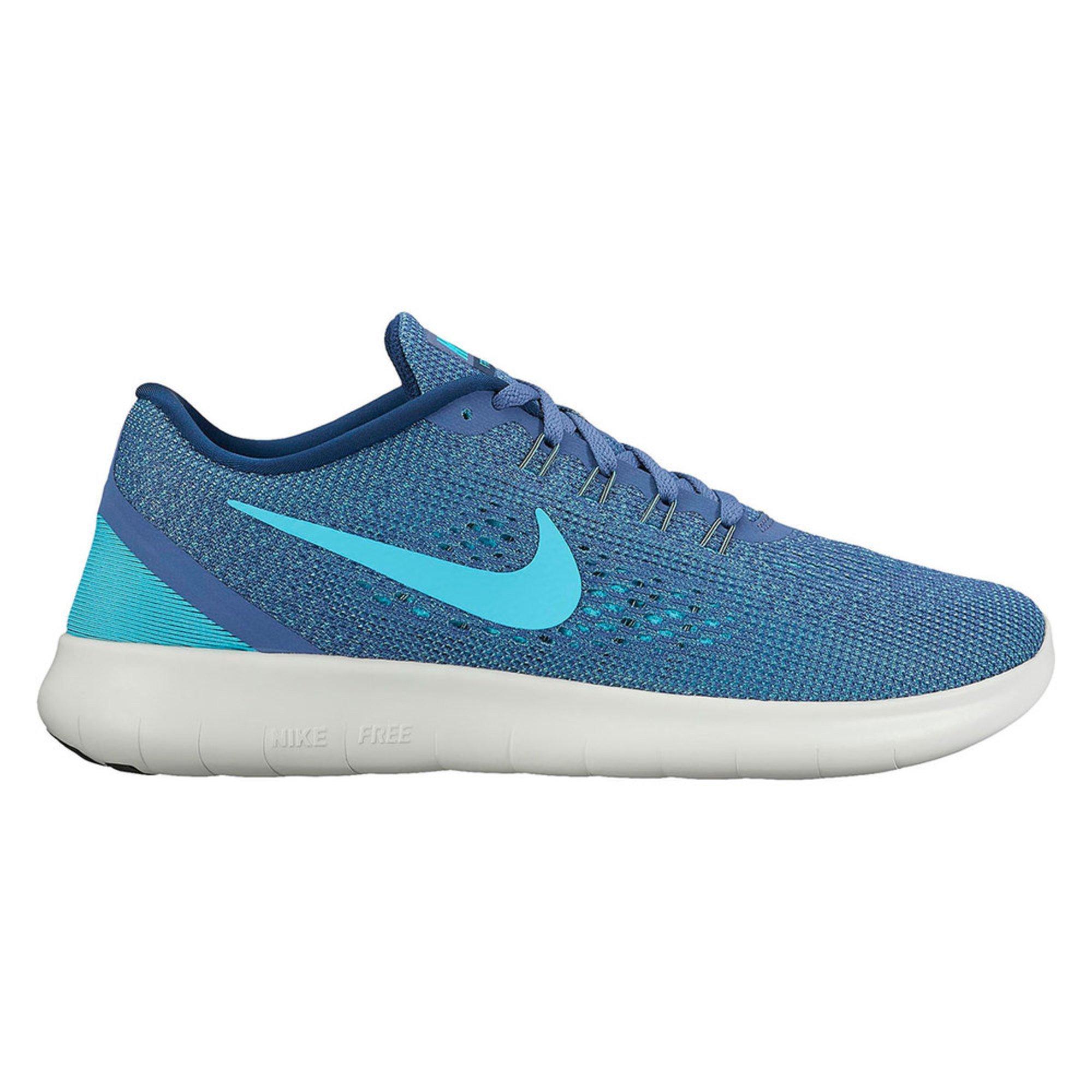 Nike Free Run Des Femmes De Chaussures De Course Lune Bleue