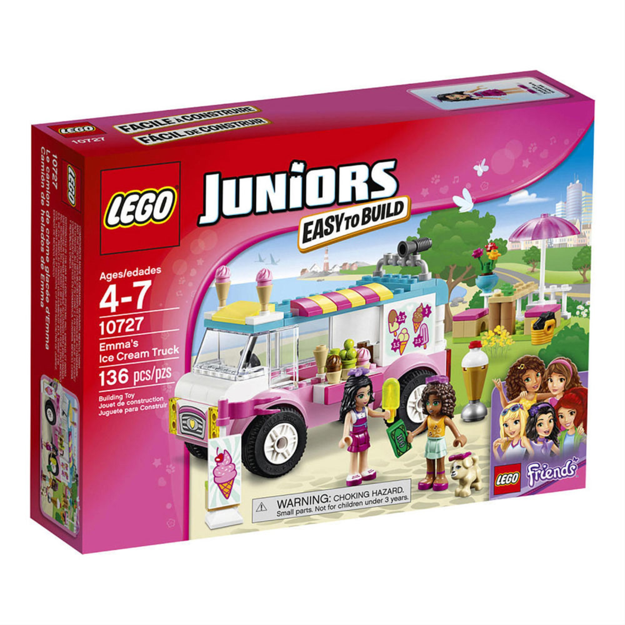 Lego Beach House Walmart: Lego Friends Emma's Ice Cream Truck (10727)
