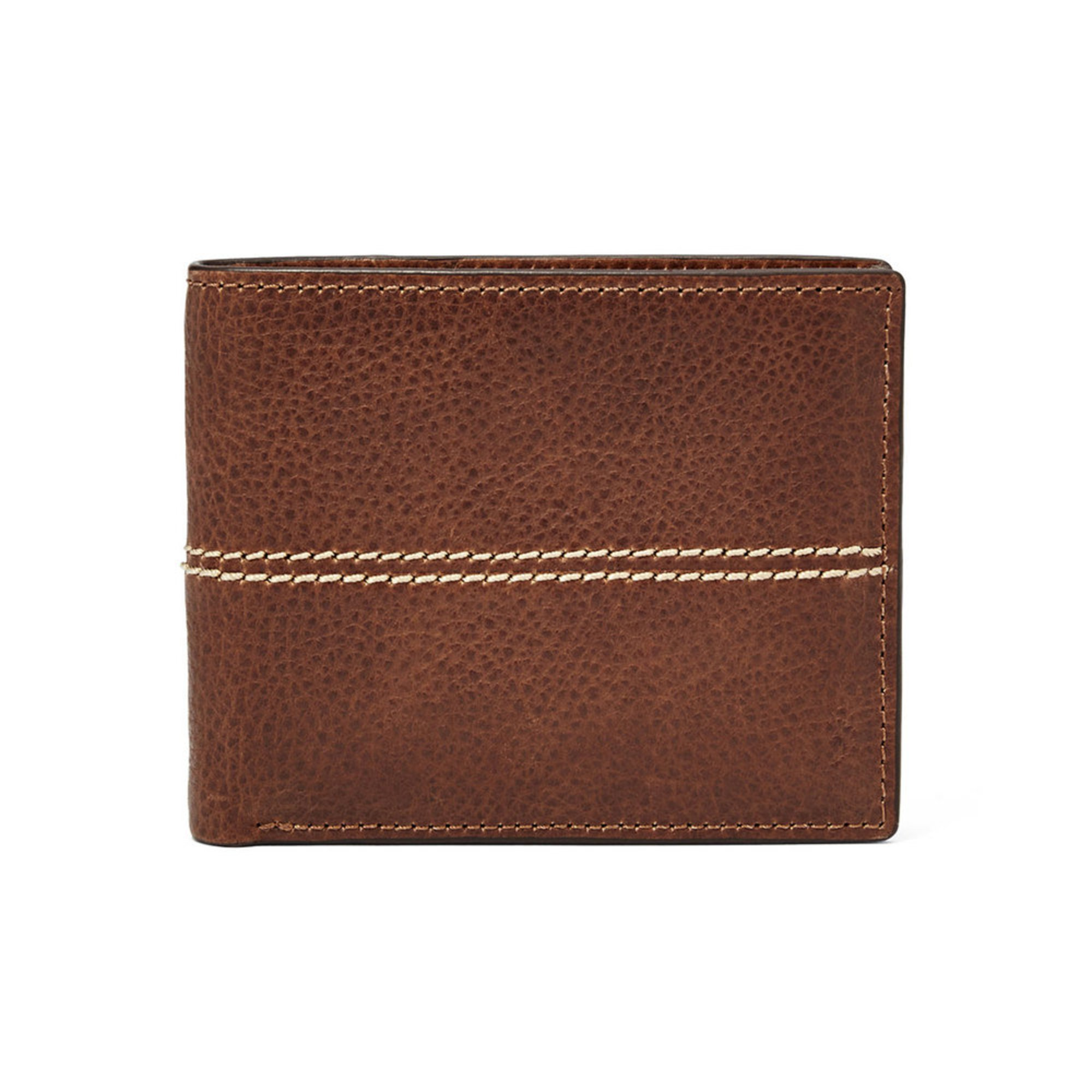 fossil wallet rfid turk passcas brown mens wallets