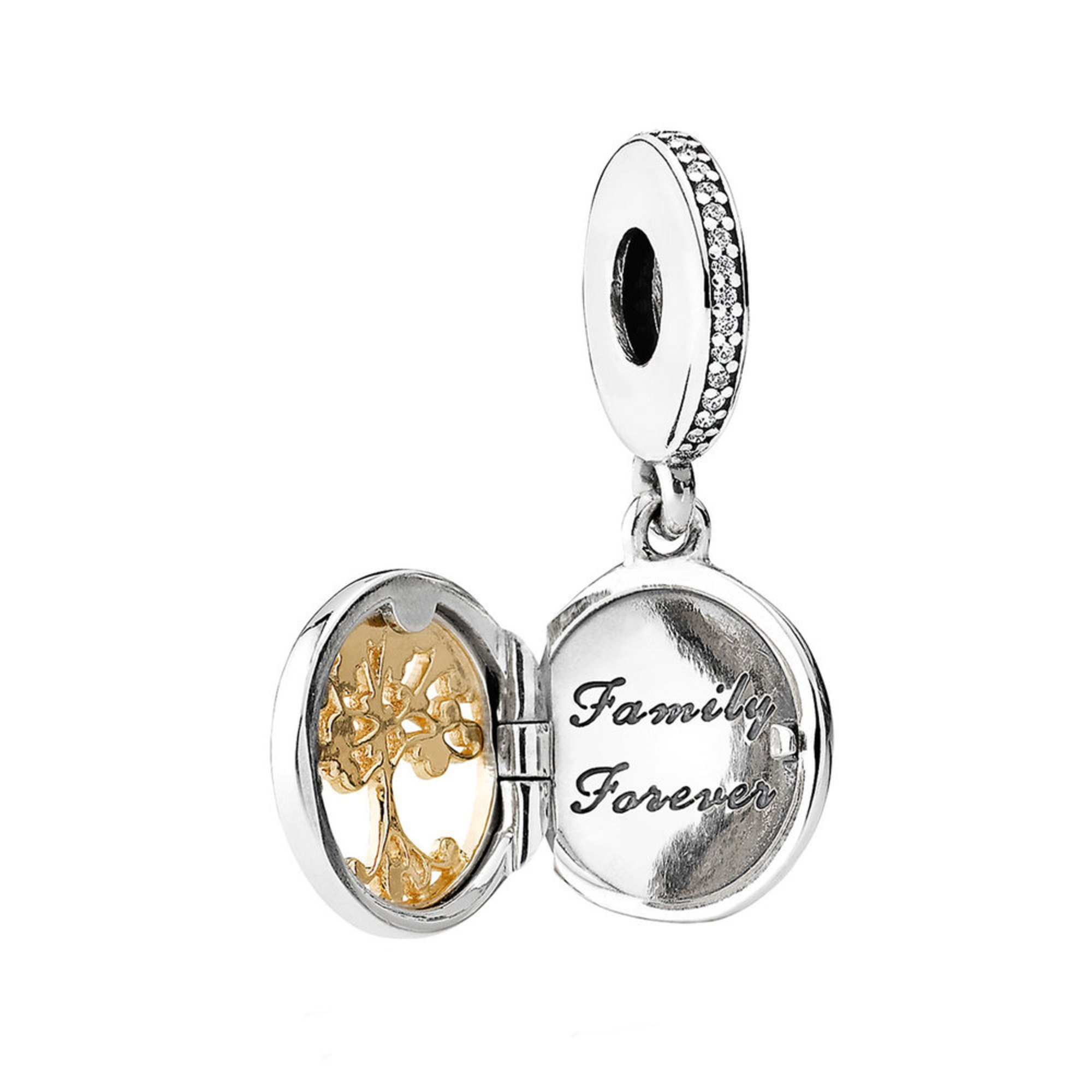 c3b7ca43c28 Pandora Family Roots Dangle Charm, Clear Cubic Zirconia | Charms ...