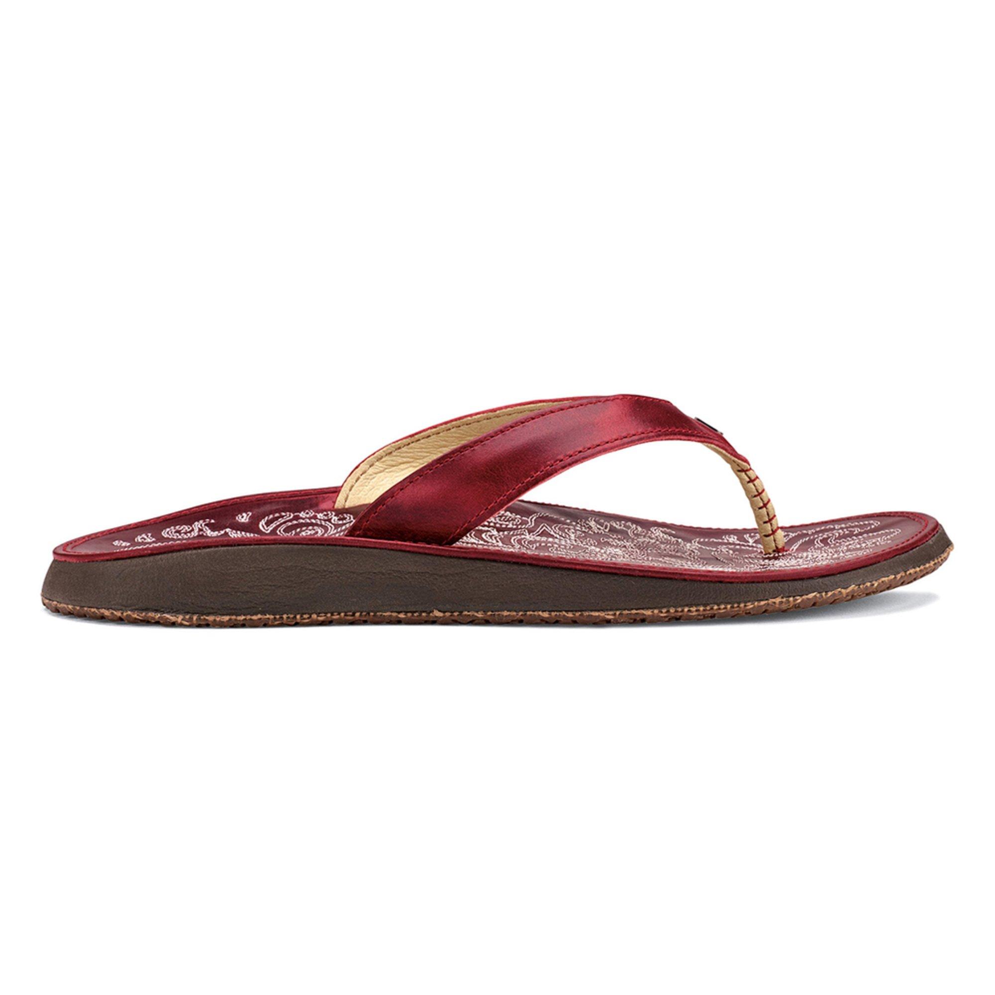 OluKai Womens Paniolo Sandal (6 - Ohia Red/Ohia Red) tTLvUw4