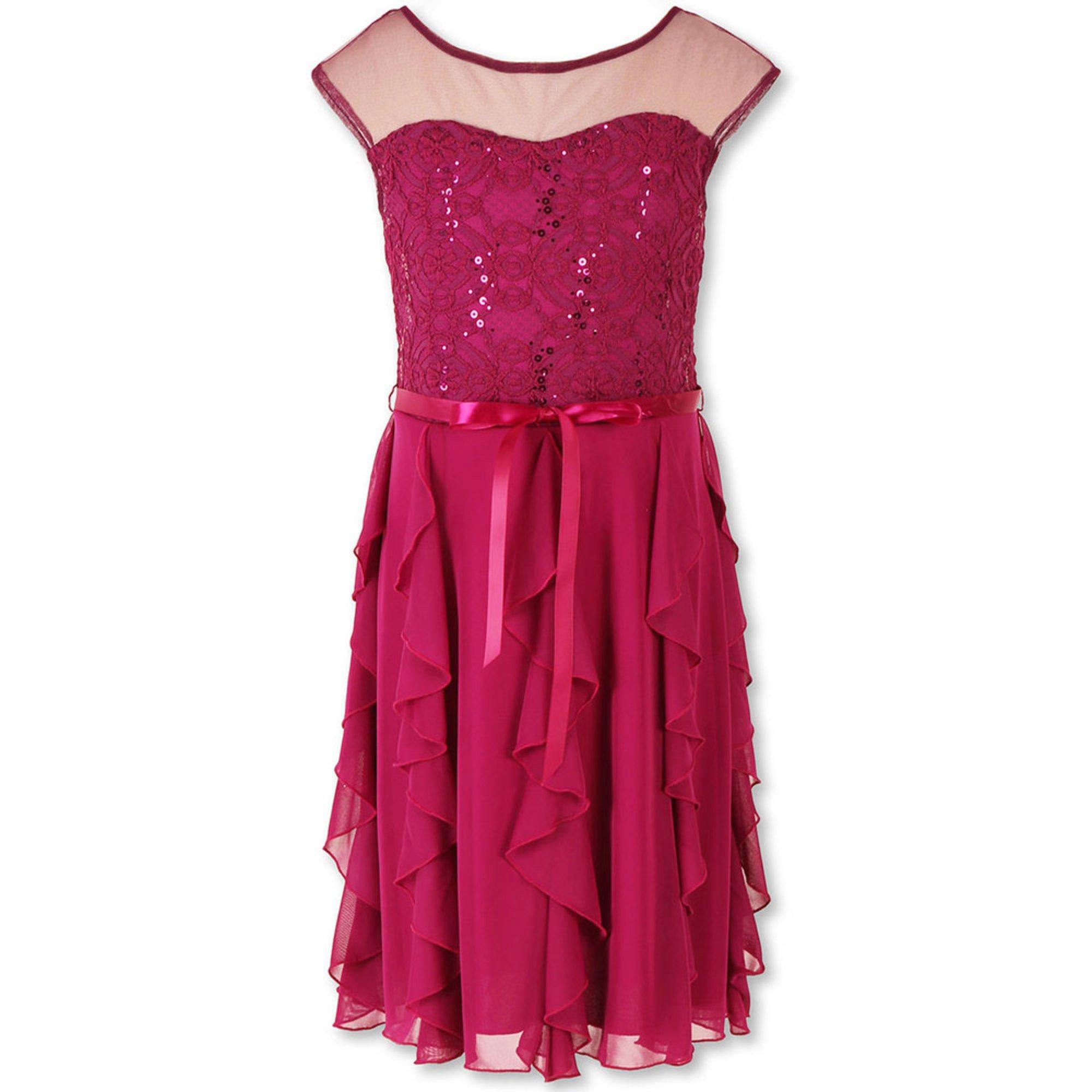 Speechless girls holiday sequin chiffon dress sizes 7 16 big girls