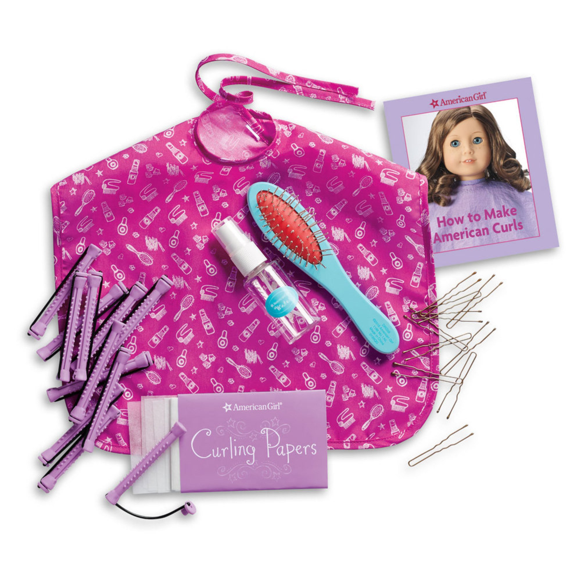 American Girl Hairstyle Essentials Set Accessories