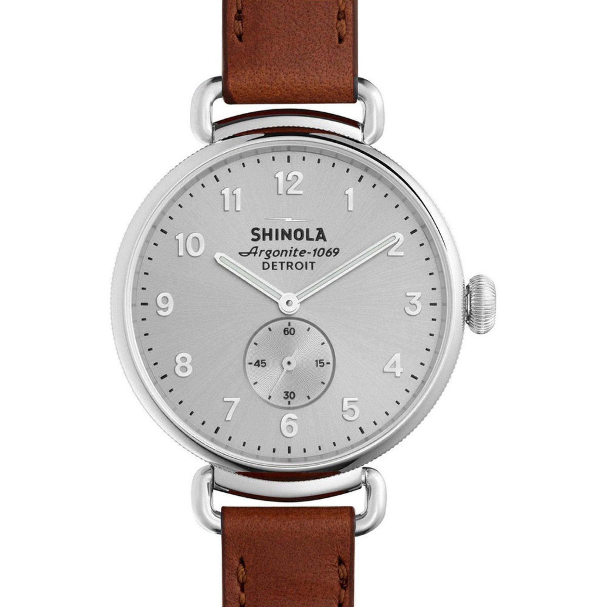 shinola s runwell cognac leather