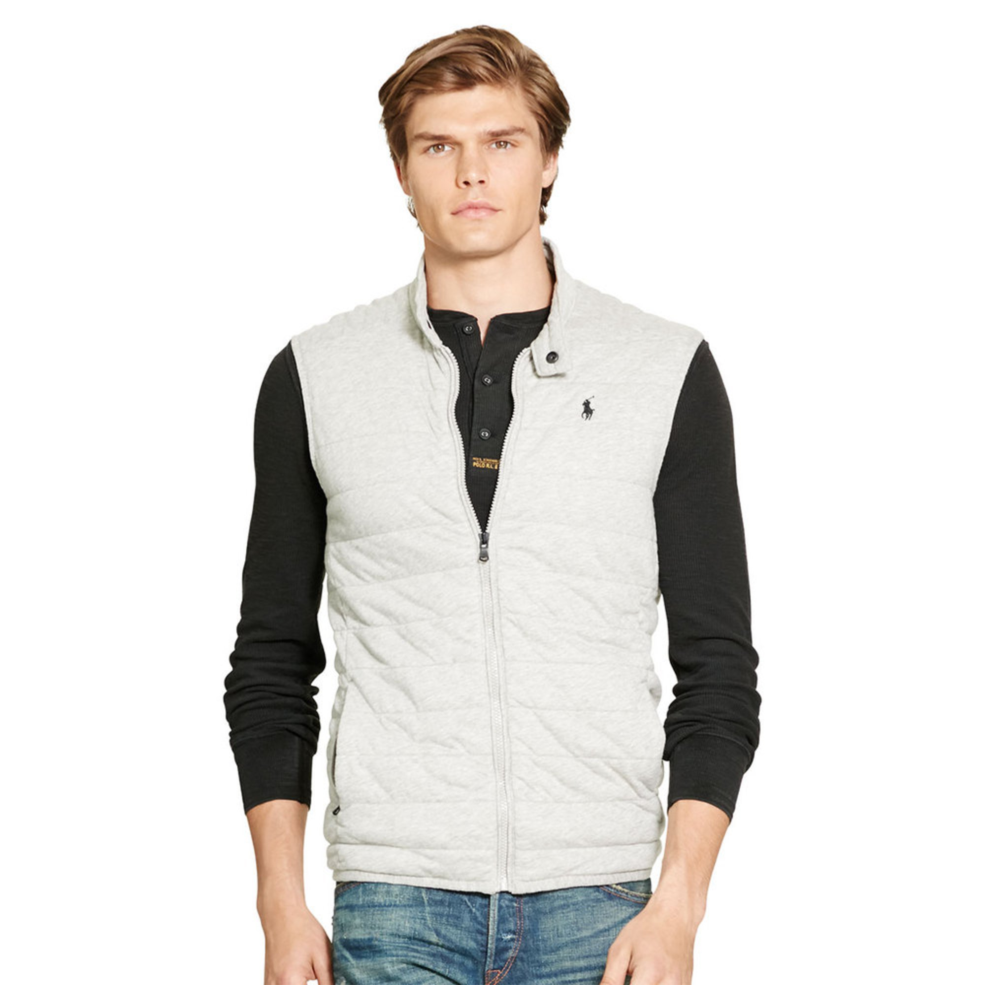 Polo Ralph Lauren Men\u0026#39;s Quilted Jersey Vest